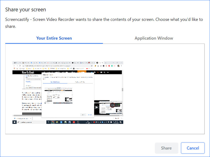 Screencastify Record Desktop into MP4