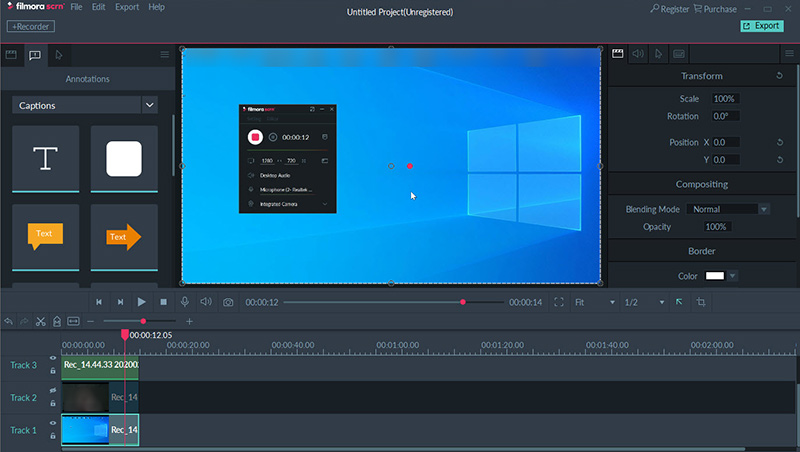 Best Easy Screen Recording and Editing Software for Win 10 - filmora scrn
